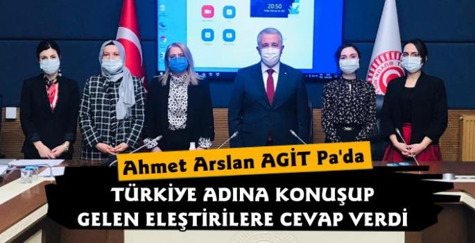 Ahmet Arslan, AGİT PA Toplantısında Türkiye Adına Konuştu