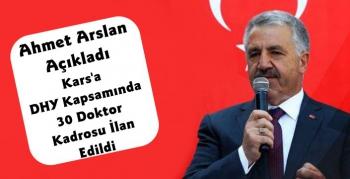 Ahmet Arslan'dan Kars'a Doktor Müjdesi