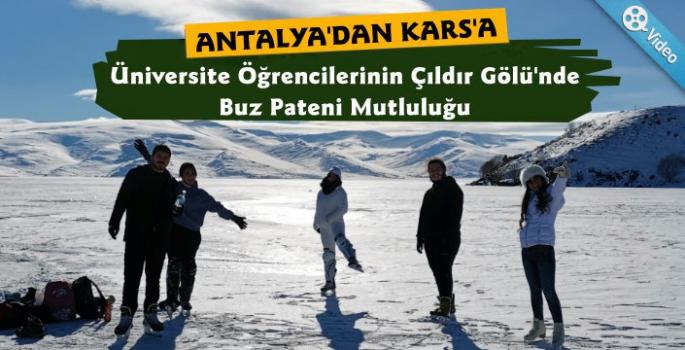Antalya'dan Kars'a Üniversite Öğrencilerinin Buz Hokeyi Turu