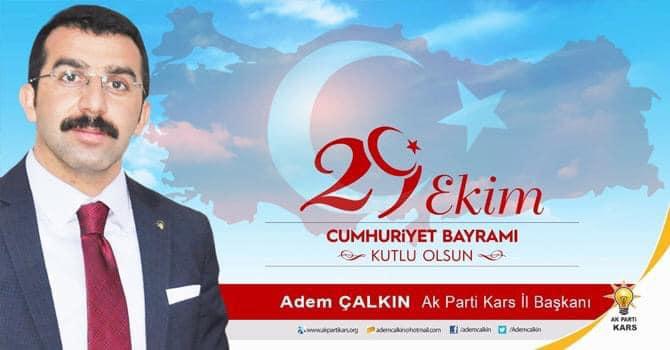 Başkan Çalkın'dan Cumhuriyet Bayramı Mesajı