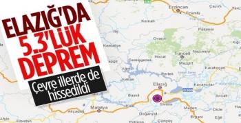 Elazığ'da 5.3 Şiddetinde Deprem