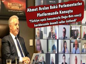 Ahmet Arslan Bakü Parlamenterler Platformu'nda Konuştu