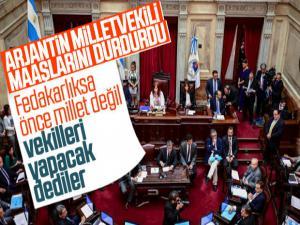 Arjantin'de milletvekillerine 180 gün maaş verilmeyecek