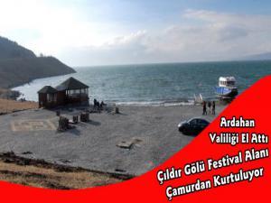 Çıldır Gölü Festival Alanı Çamurdan Kurtuluyor