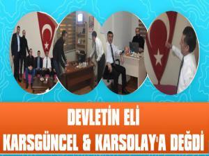 Devletin Eli Karsgüncel ve Karsolay'a Değdi