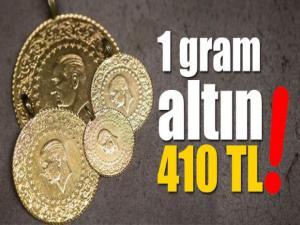 Gram Altın 410 Lirayı Aştı