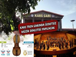 İzmir Senfoni Orkestrası Kars Tren Garında Müzik Dinletisi Yapacak