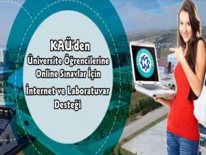 Kafkas Üniversitesi'nden Öğrencilere Online Sınav Desteği