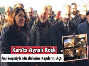 Kars Belediyesi Tarihi Aynalı Köşk'te ANİ Taşın Şiiri Sergisi Açıldı