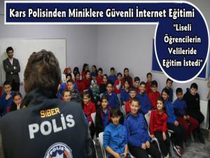 Kars Polisinden Öğrencilere Güvenli İnternet Kullanımı Eğitimi