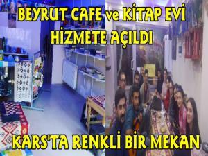 Kars'ta Beyrut Cafe ve Kitap Evi Hizmete Açıldı