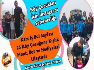 Kars'ta Köy Çocuklarına İnstagram Seferberliği