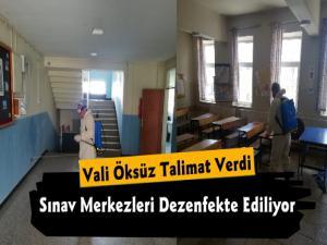 Kars'ta LGS Sınavı için Okullar Dezenfekte Edildi