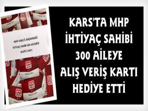 Kars'ta MHP'den 300 İhtiyaçlı Aileye Hediye Kartı