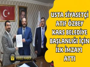 Kars'ta Usta Siyasetçi ve Gazeteci Atıf Özbey AK Parti'den Aday Adaylığı Başvurusunu Yaptı