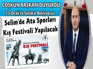 Karsın Selim İlçesinde Ata Sporları Kış Festivali Düzenleniyor