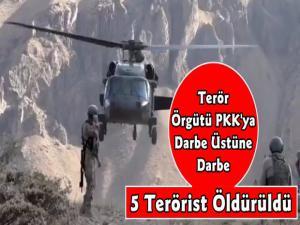Mehmetçikten PKK'ya Ağır Darbe 5 Terörist Öldürüldü