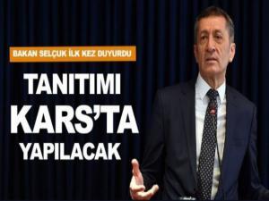Milli Eğitim Bakanı Ziya Selçuk'tan flaş açıklama! Tanıtımı Kars'ta yapılacak