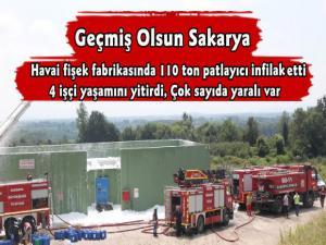 Sakarya'da Havai Fişek Fabrikasında Patlama 4 Kişi Yaşamını Yitirdi