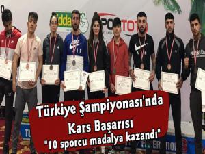 Türkiye Wushu Kung Fu Şampiyonasında Kars Başarısı