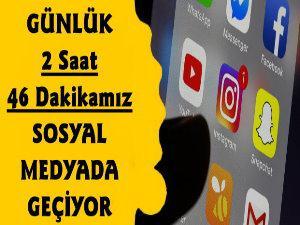 Türkiyede Günlük 2 Saat 46 Dakikamız Sosyal Medyada Geçiyor