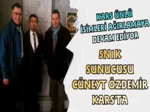 Ünlü Gazeteci Cüneyt Özdemir Kars'ta