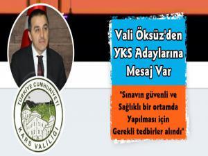 Vali Türker Öksüz'den YKS Adaylarına Mesaj