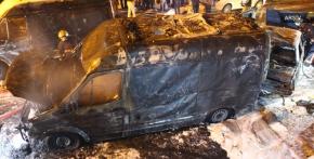 Batman'da park halindeki ambulans yandı