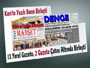 Kars'taki Gazeteler Birleşti