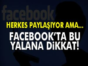 Facebook Kullanıcıları, Bu Mesaja Dikkat!