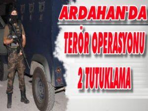 Terör operasyonunda 2 tutuklama