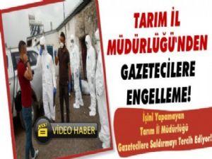 Kars'ta İl Tarım'dan Gazetecilere Çirkin Saldırı