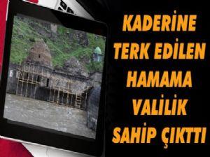 Tarihi Muradiye Hamamı'nın yapımına başlandı