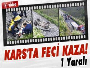 Kars'ta feci kaza :1 yaralı