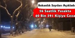 56 Saatlik Sokağa Çıkma Kısıtlamasında 40 Bin Kişiye Para Cezası