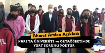 Ahmet Arslan Açıkladı Kars'ta Yurt ve Barınma Sorunu Yoktur