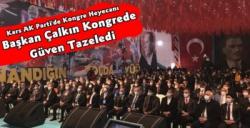 AK Parti Kars İl Başkanı Adem Çalkın Güven Tazeledi
