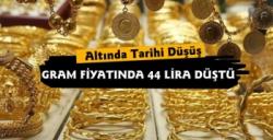 Altında Tarihi Düşüş Gramda 44 Lira Düşüş Yaşandı