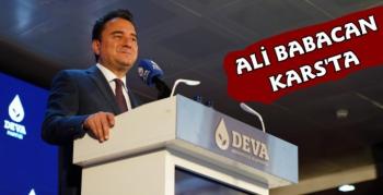 DEVA Partisi Genel Başkanı Ali Babacan Kars'a Geldi