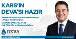 DEVA Partisi Genel Başkanı Ali Babacan Kars'a Geliyor