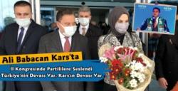 DEVA Partisi Genel Başkanı Ali Babacan Kars'ta