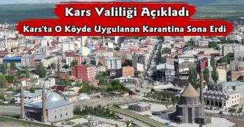 Digor Şatıroğlu Köyünün Karantinası Sona Erdi
