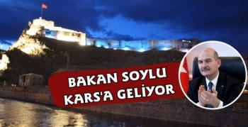İçişleri Bakanı Süleyman Soylu Kars'a Geliyor
