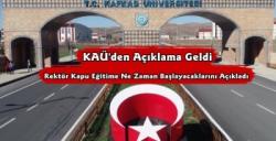 Kafkas Üniversitesi Eğitime Başlayacağı Tarihi Açıkladı