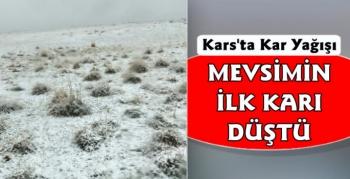 Kars'a Mevsiminİlk Karı Yağdı