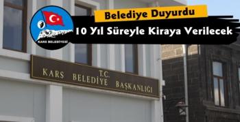 Kars Belediyesi Reklam Panolarını Kiraya Verecek
