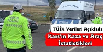 Kars'ın Araç ve Kaza İstatistikleri Açıklandı