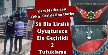 Kars Narko Zehir Tacirlerine Geçit Vermiyor! 50 Bin Liralık Uyuşturucu Ele Geçirildi 2 Tutuklama