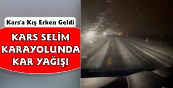 Kars Selim Karayolu Beyaza Büründü