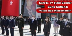 Kars'ta 19 Eylül Gaziler Günü Kutlandı